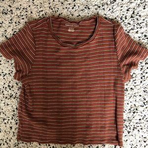 American Eagle Striped T Shirt